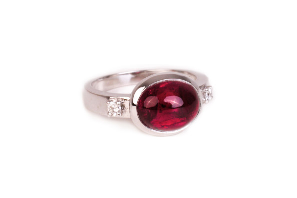 golden ring red tourmaline